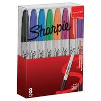 SHARPIE FINE MARKER ASSORTED COLOURS WALLET OF 8