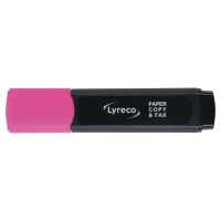 LYRECO HIGHLIGHTER PINK - BOX OF 10