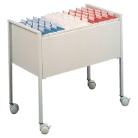 FOOLSCAP FILING TROLLEY 592 X 655 X 425MM - LIGHT GREY