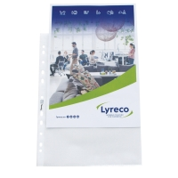 LYRECO A4 PUNCHED POCKETS 80 MICRONS - PACK OF 100