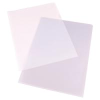 LYRECO BUDGET CLEAR A4 CUT FLUSH PLASTIC FOLDERS 90 MICRONS - BOX OF 100