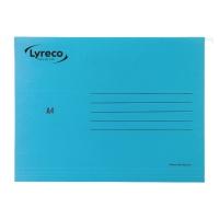 LYRECO PREMIUM BLUE A4 SUSPENSION FILES V BASE - BOX OF 25