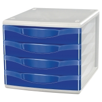 LYRECO 4 DRAWER UNIT BLUE
