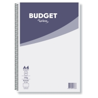 LYRECO BUDGET NOTEBOOK A4 60 GSM RULED SPIRAL - PACK OF 10