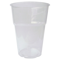 DUNI CLEAR PLASTIC CUPS 250ML - BOX OF 50