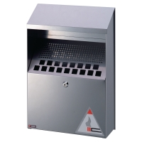 DURABLE WALL MOUNTED ASH BIN SILVER