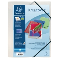 EXACOMPTA KREA COVER CLEAR A4 ELASTICATED 3-FLAP FOLDER