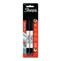 SHARPIE CD / DVD MARKER TWIN TIP BLACK - PACK OF 2