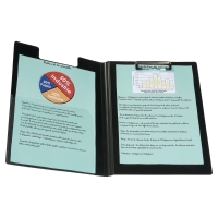 POLYPROPYLENE FOLDOVER CLIPBOARD BLACK