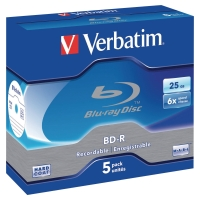 VERBATIM BDR BLU-RAY BOX OF 5