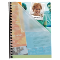 PAVO CLEAR A4 POLYPROPYLENE REPORT COVERS 280 MICRON - PACK OF 100