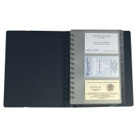 EXACOMPTA EXACTIVE BLACK 200 X 145MM BUSINESS CARD HOLDER 120 CARD CAPACITY