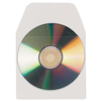 3L CD/DVD POCKETS WITH FLAP ADHESIVE BACKED - PACK OF 10