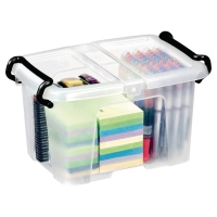 STRATA CLEAR 6 LITRE SMART STOREMASTER BOX WITH LID L330 X W225 X H170MM