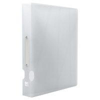 ELBA HAWAI CLEAR A4 POLYPROPYLENE 2 O-RING BINDER 40MM