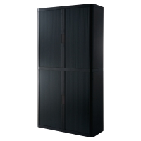 PAPERFLOW EASYOFFICE TAMBOUR CUPBOARD 2043 X 1100 X 415MM BLACK/BLACK