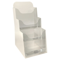 EXACOMPTA DESKTOP DISPLAY RACK 3 COMPARTMENTS 1/3 A4