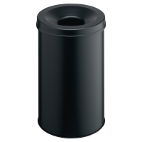 DURABLE METAL & FIREPROOF WASTE BIN 30 LITRE BLACK