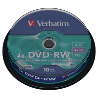 VERBATIM DVD-RW SPINDLE BOX OF 10