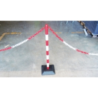EXTENSION PLASTIC POST AND CHAIN RED/WHITE