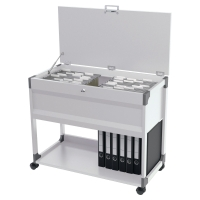 DURABLE LOCKABLE FILING TROLLEY LIGHT GREY