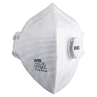 UVEX FFP3 FLATFOLD DISPOSABLE RESPIRATOR MASKS WITH VALVE (BOX OF 15)