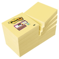 POST IT SUPER STICKY NOTES 51 X51MM YELLOW PACK 12