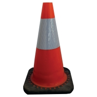 VISO CONE CLASS 2 WITH RUBBER BASE 50CM