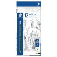 STAEDTLER NORIS ECO PENCIL HB RUBBER TIPPED BOX OF 12