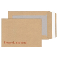 LYRECO MANILLA C5 PEEL AND SEAL BOARD-BACK ENVELOPES 115GSM - BOX OF 125