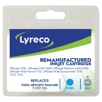 LYRECO INKJET COMPATIBLE CARTRIDGE HP933XL CYAN