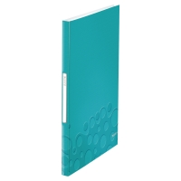 LEITZ WOW DISPLAY BOOK POLYPROPYLENE 40 POCKET A4 ICE BLUE