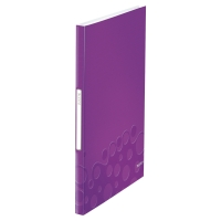 LEITZ WOW DISPLAY BOOK POLYPROPYLENE 40 POCKET A4 PURPLE