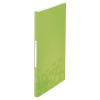 LEITZ WOW DISPLAY BOOK POLYPROPYLENE 40 POCKET A4 GREEN