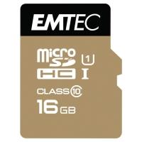 EMTEC GOLD MICRO SDHC MEMORYCARD WITH ADAPTOR 150X 16GB