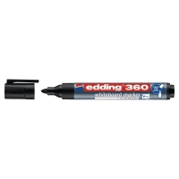 EDDING 360 BULLET TIP BLACK WHITEBOARD MARKERS - BOX OF 10