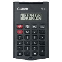 CANON AS-8 POCKET CALCULATOR 8 DIGIT BLACK