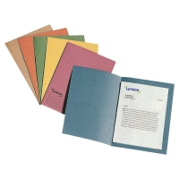 LYRECO BLUE FOOLSCAP SQUARE CUT FOLDERS MEDIUM WEIGHT 250GSM - PACK OF 100