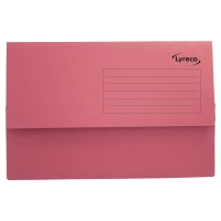 LYRECO RED FOOLSCAP DOCUMENT WALLETS 290GSM 32MM CAPACITY - BOX OF 50