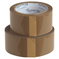 LYRECO BUDGET PP PACK TAPE 50X100 BROWN - PACK OF 6