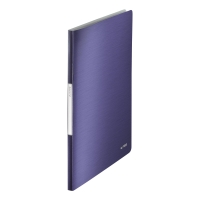 LEITZ STYLE DISPLAY BOOK POLYPROPYLENE A4 20 POCKET BLUE