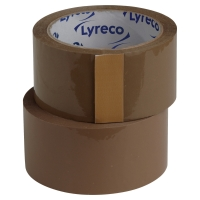 LYRECO POLYPROPYLENE NO NOISE PACK TAPE 50X66 BROWN - PACK OF 6