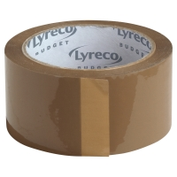 LYRECO BUDGET PP PACK TAPE 50X66 BROWN - PACK OF 6