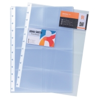 PK10 EXACOMPTA B/CARD REFILL POCKETS A4