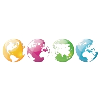 OFFICE DECO TRANSFERS COLORFUL GLOBES