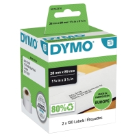 DYMO EL60/LW330 LABELS 89 X 28MM - WHITE - PACK OF 260