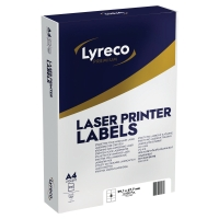 LYRECO PREMIUM WHITE LASER PRINTER LABELS 99.1 X 67.7MM - BOX OF 2000