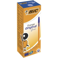 BIC CRISTAL BALL POINT BLUE PENS 0.5MM LINE WIDTH - BOX OF 20