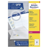 AVERY L7160-100 QUICKPEEL WHITE LASER ADDRESSING LABELS 63.5X38.1MM - BOX OF 100