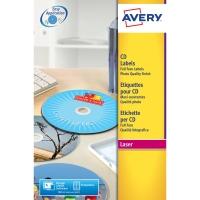 AVERY L7760-25 FULL FACE CD LASER LABELS COLOUR 117MM DIAMETER - PACK OF 25